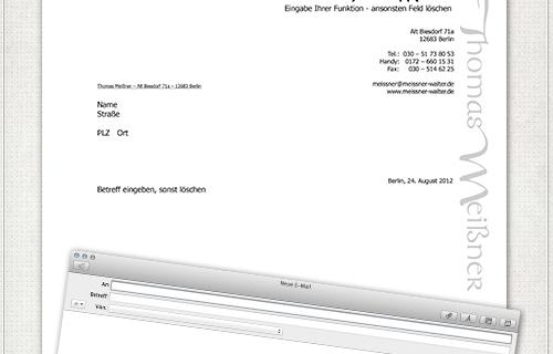 Word-Briefpapier Design und Einrichtung