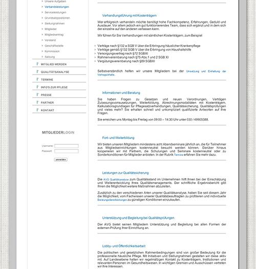 Farbgestaltung der Website