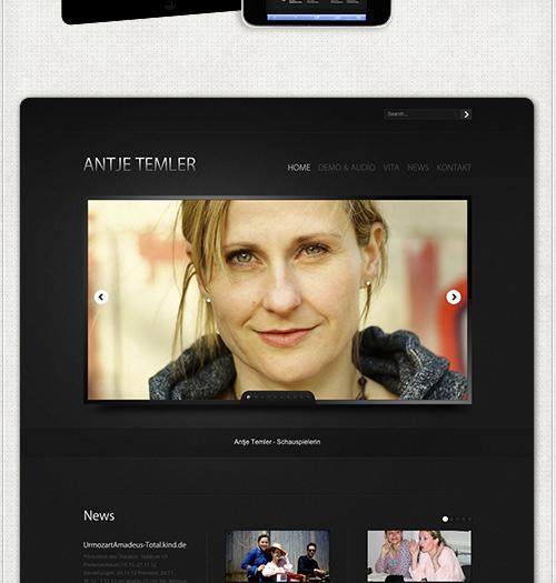 Startseite mit Bildwechsel und News