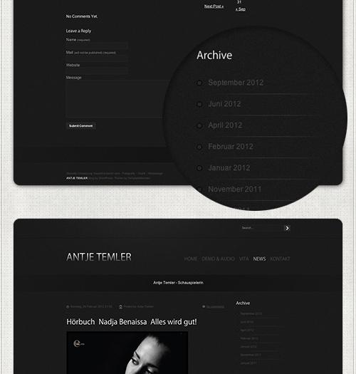 Homepage mit News und Archiv