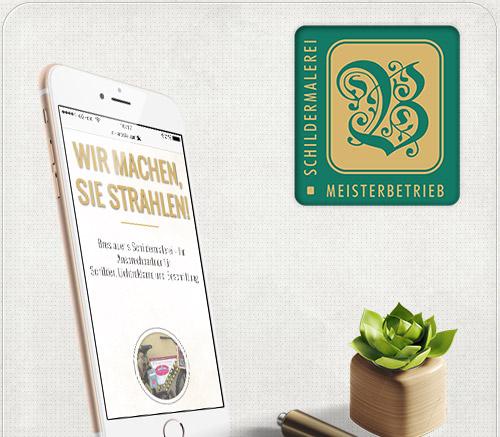 Gestaltung der Website für das iPad