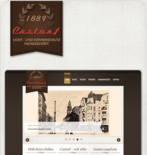 Wordpress Startseite Castorf
