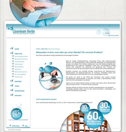 Webdesign für CMS