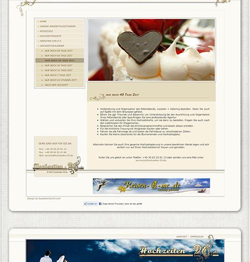 Website Hochzeitspaket