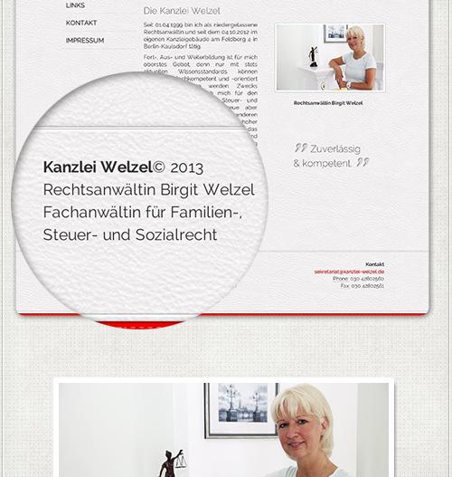 Hintergrund der Homepage und Schriften für Web