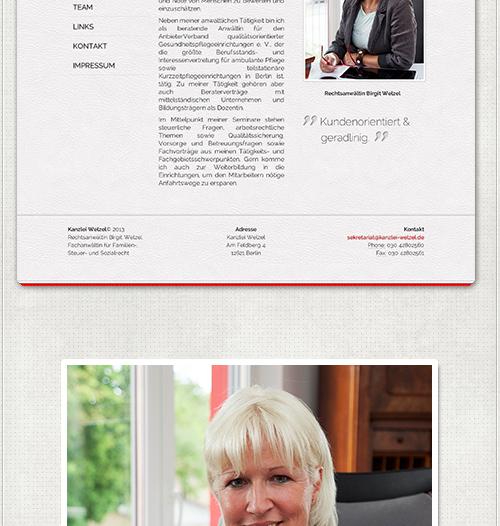 Internetschriften und Fotoaufnahmen der Rechtsanwältin