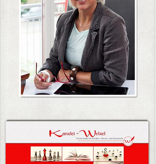 Fotoaufnahme Rechtsanwältin Birgit Welzel, ausdrucksstarkes Webdesign