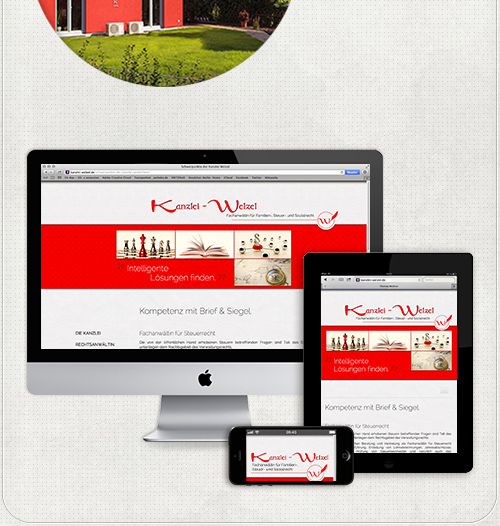 die Homepage ist für verschiedene Bildschirme extra designed