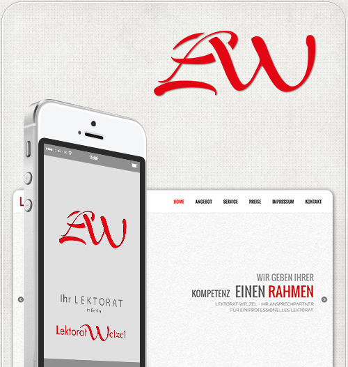 Design eines Logos und einer Homepage