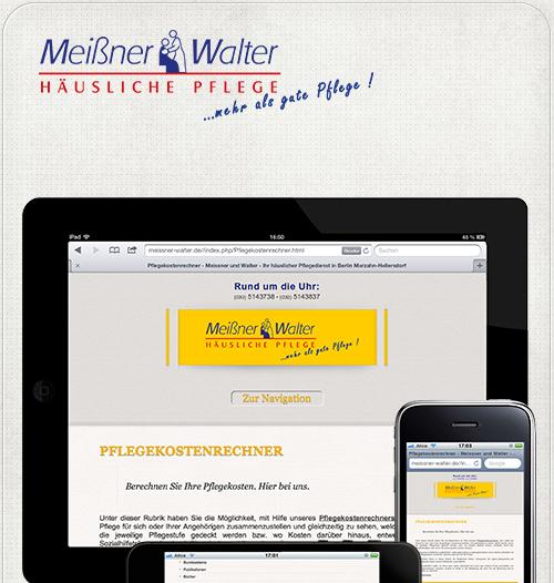 Webseite auf iPad und iPhone