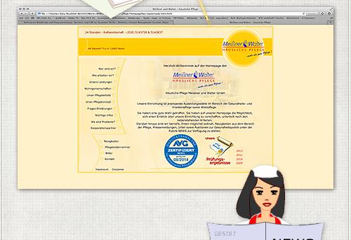 erste Seite Meissner Walter Website 2005