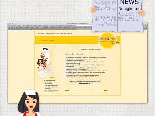 Webseite Wohngemeinschaften