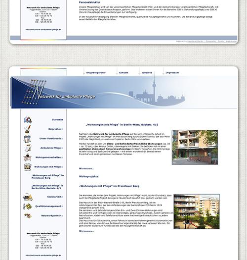 Homepage des Netzwerkes