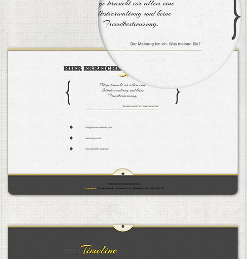 Designelemente auf der Homepage
