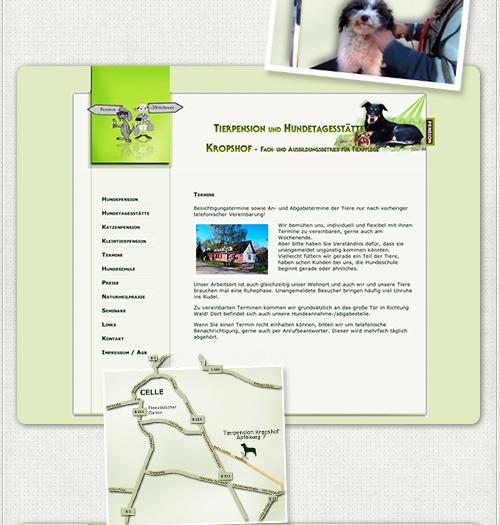 Anfahrtsskizze auf der Website