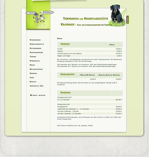Homepage der Tierpension