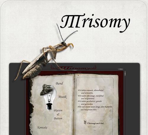 Website der Band Trisomy