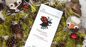 Design von DIN lang Flyers für die Umalleskümmerkäfer