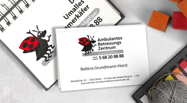 schöne Visitenkarten mit Logo und Ansprechpartner