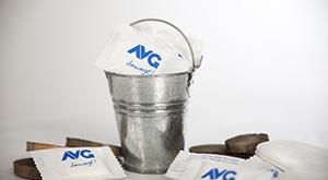 Werbefoto mit Gestaltung der Werbegeschenke für den AVG