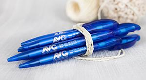 Kugelschreiber mit Sonderfarbe Silber für den Berliner AVG e.V.