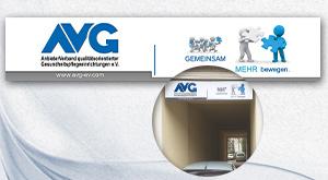 Schild für Aussenfassade beim AVG