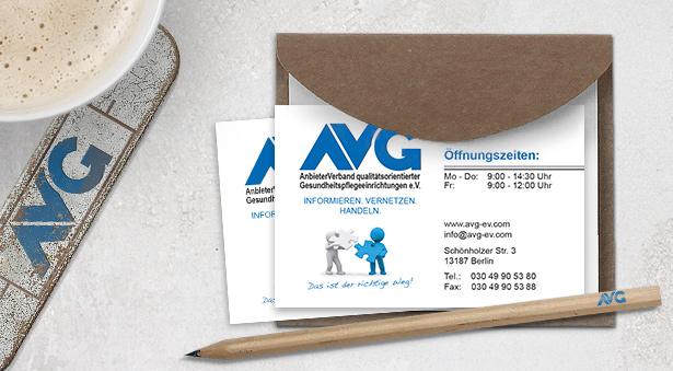 individuelle Visitenkarten für den AVG