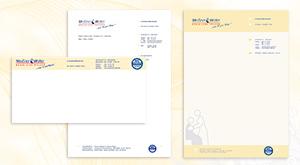 Briefpapier, Outlook-Header und Word-Vorlagen-Design