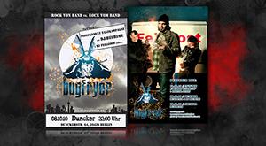 Gestaltung der Plakate, Postkarten & Flyer für Bugfryer