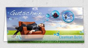 individuelles Gutschein-Design für das Cleanteam-Berlin