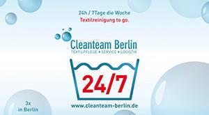 Plakat-Design für Cleanteam Werbung auf U-Bahn-Höfen, Kulturbrauerei und in Filialen