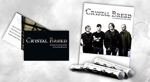 Plakat und Visitenkarten für Crystal Breed