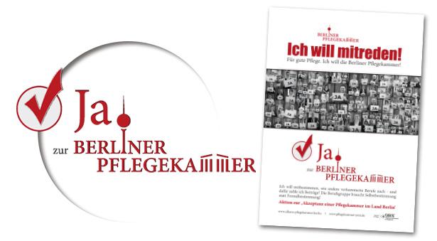Logo-Design und Plakat-Gestaltung für Berliner Pflegekammer