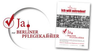 Logo-Design und Plakat-Gestaltung für Berliner Pflegekammer U-Bahn-Werbung