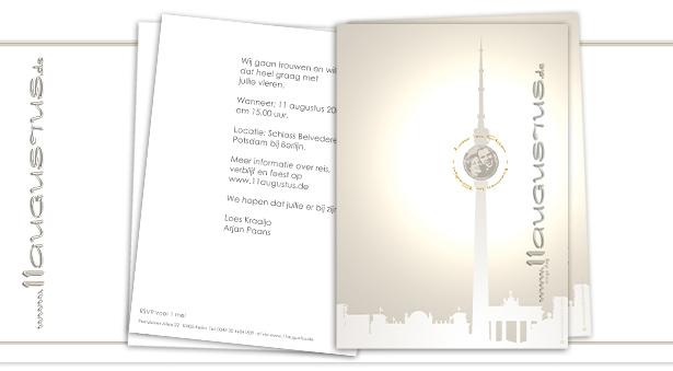 Elegant Einladungskarten. +zwei Holländer Heiraten In Berlin .