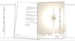 Einladungskarte für Hochzeitsfeier