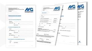 Design der Formulare für den AVG