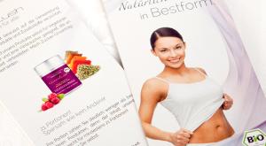 individuelles Design von Faltblättern DIN lang für Diätmittel