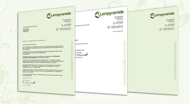 Briefpapier für Unternehmen für Nachhilfe