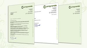 Briefpapier und Word-Vorlage für die Lernpyramide