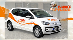 Autoaufkleber Panke Pflege GmbH