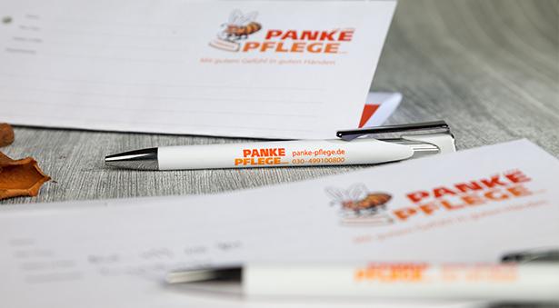 personalisierte Kugelschreiber Panke Pflege