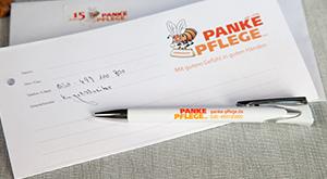 Design Druckfläche Kugelschreiber für Panke Pflege GmbH
