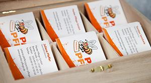 Design von Visitenkarten für Panke Pflege GmbH