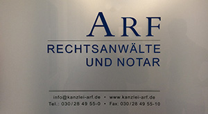 Folienbeklebung für Eingangstür RA Arf