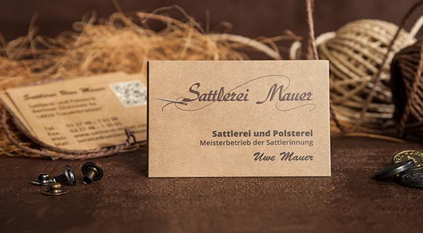 Visitenkarten-Design für Sattlermeister in Treuenbrietzen