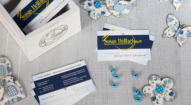 Visitenkarten mit Logo, Slogan und individueller Gestaltung