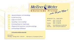 Visitenkarten für Pflegedienst in Berlin Marzahn-Hellersdorf
