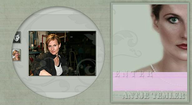 Internetseite Schauspielerin