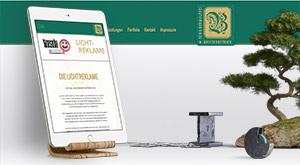 responsive Webdesign in Grün-Goldenen Firmenfarben